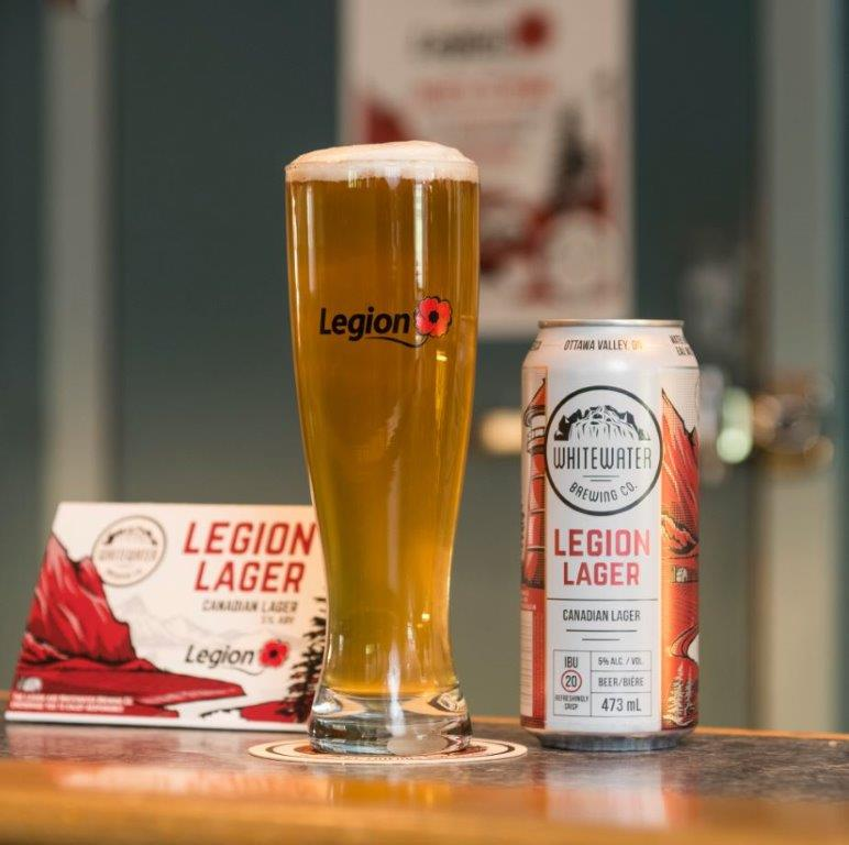 Legion Lager in glass